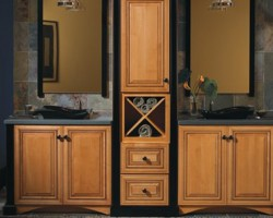 Rutherford door Honey Spice finish on Maple